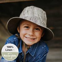 Bedhead Hats - Kids Reversible Sun Hat - Bark / Olive