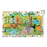 Djeco - Jungle 35 Piece Observation Puzzle
