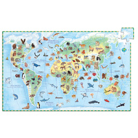 Djeco - World Animals 100 Piece Observation Puzzle