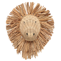Rattan Lion Wall Hanging