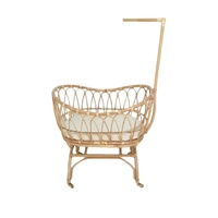Lomie Rattan Baby Bassinet