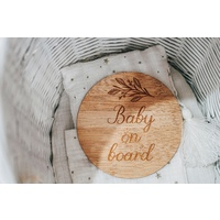 Little Dream Collection - Baby On Board Wooden Disc
