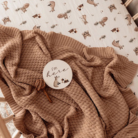 Snuggle Hunny Kids - Hazelnut Diamond Knit Baby Blanket