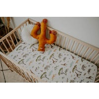 Snuggle Hunny Kids - Safari Fitted Cot Sheet