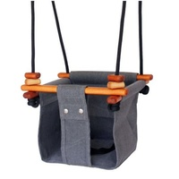 Solvej Swings - Smokey Grey Convertible Baby and Toddler Swing