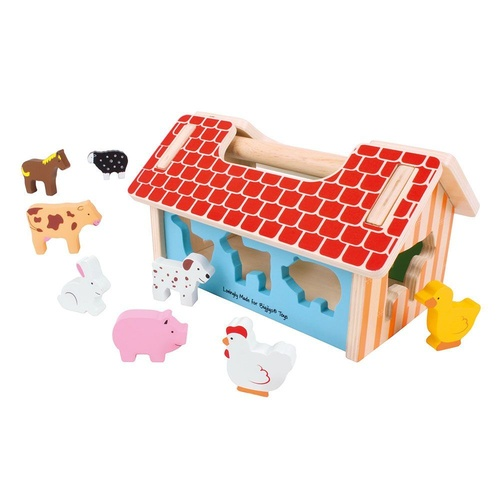 Bigjigs Toys - Farmhouse Sorter